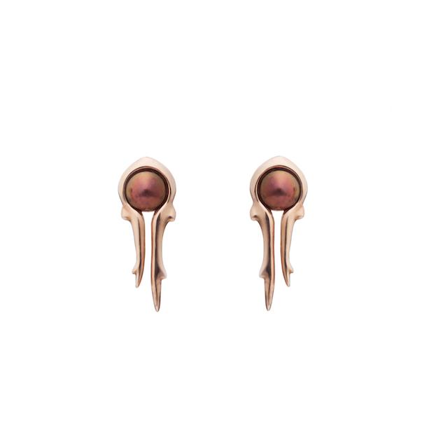 antler golden earrings