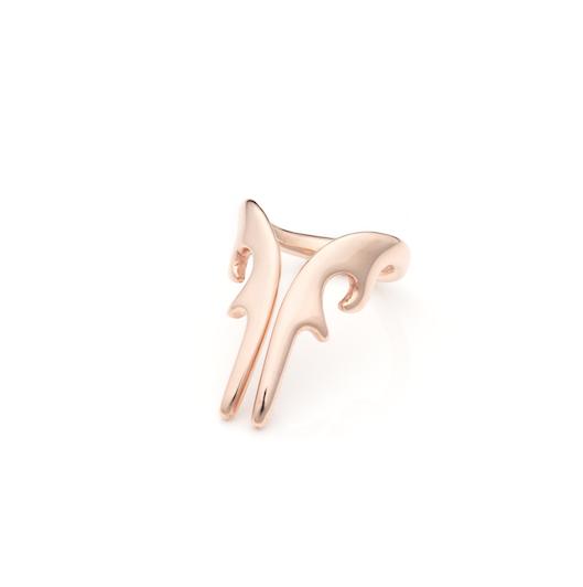 antler long ring