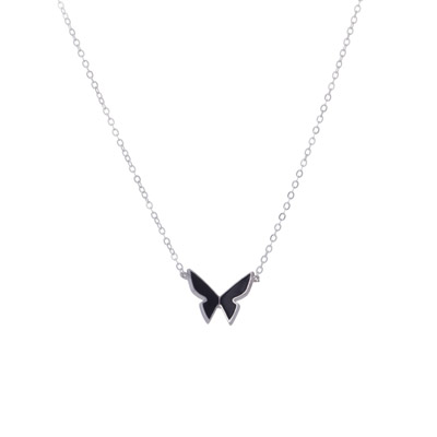 black papillon necklace