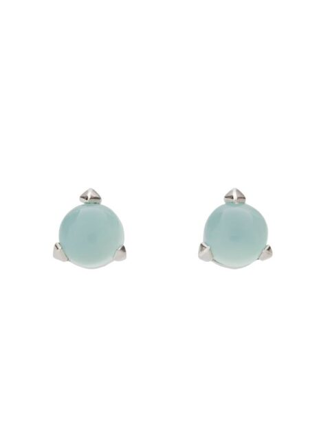Bones Mini Earrings Turquoise Chalcedony monquer
