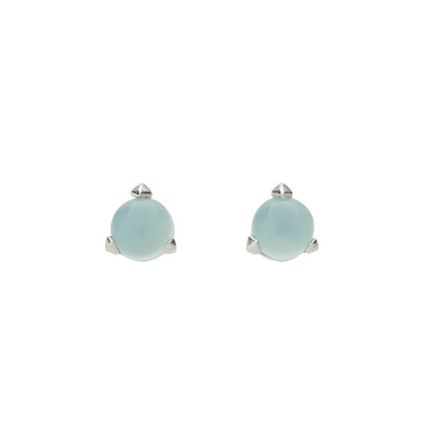 Bones Mini Earrings Turquoise Chalcedony monquer