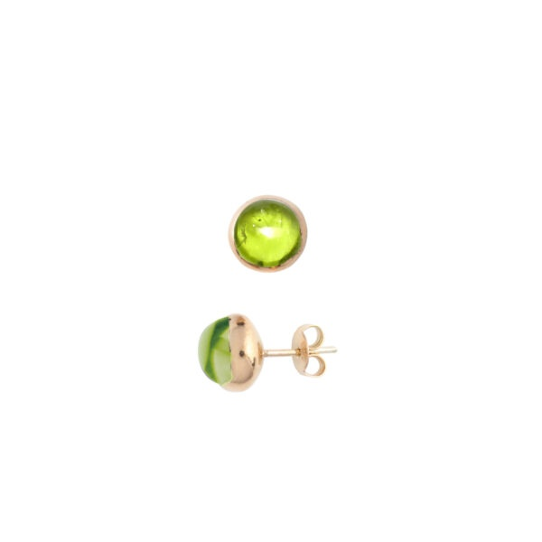 Blossom peridot earrings