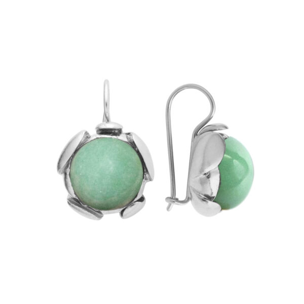 Blossom green aventurine earrings