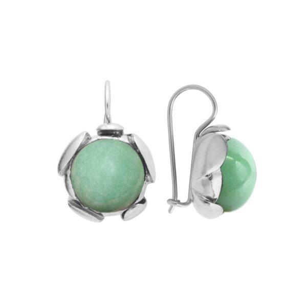 Blossom green aventurine earrings