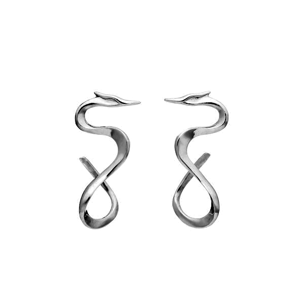 Large Tori earrings in black rhodium plated silver