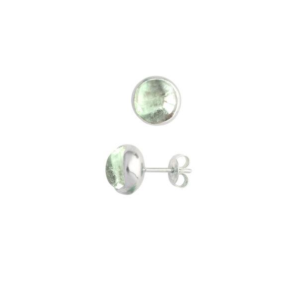 earrings with fluorite